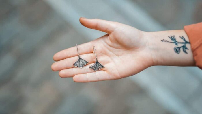 Ginkgo Leaves Earrings